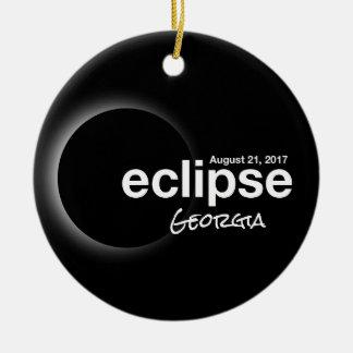 Adorno De Cerámica Eclipse solar total 2017 - Georgia