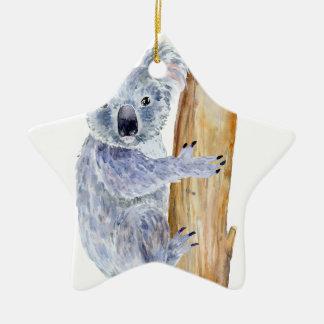 Adorno De Cerámica Ejemplo de la koala de la acuarela