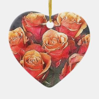 Adorno De Cerámica Ejemplo de los rosas rojos