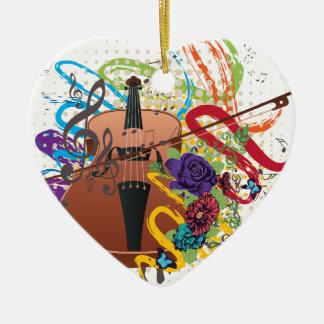 Adorno De Cerámica Ejemplo del violín del Grunge