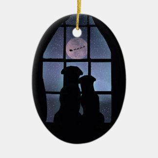 Adorno De Cerámica El 1r navidad lindo estupendo junto adorna