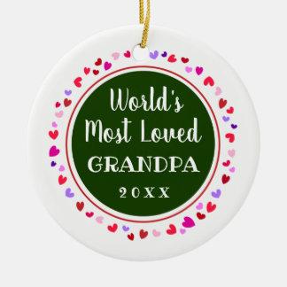 Adorno De Cerámica El abuelo amado 2017 o cualquier regalo conocido