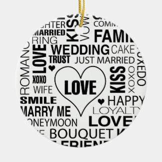 Adorno De Cerámica El amor del novio de la novia del regalo de boda