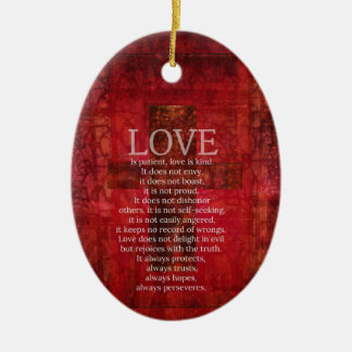 Adorno De Cerámica El amor es amor paciente es verso bueno de la