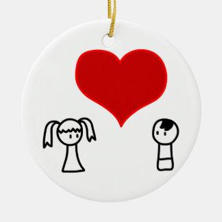 Adorno De Cerámica El bachelorette lindo del doodle del amor del
