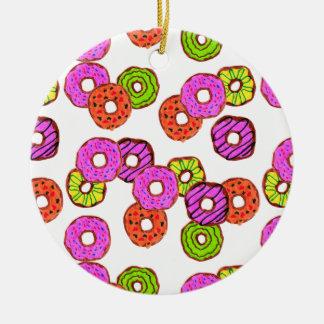 Adorno De Cerámica el buñuelo helado colorido de los anillos de