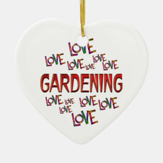 Adorno De Cerámica El cultivar un huerto del amor del amor