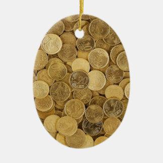 Adorno De Cerámica El euro acuña el mercado Europa del amarillo del
