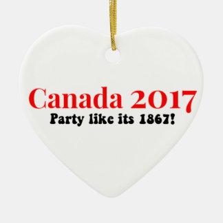 Adorno De Cerámica El fiesta de Canadá 150 en 2017 tiene gusto de