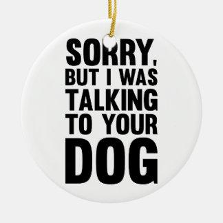 Adorno De Cerámica El hablar con su perro