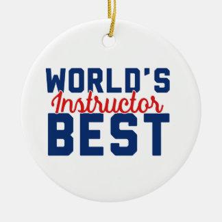 Adorno De Cerámica El mejor instructor del mundo