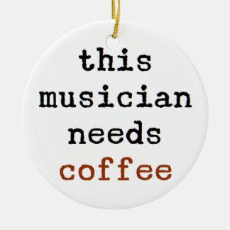 Adorno De Cerámica el músico necesita el café