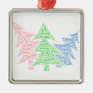 Adorno De Cerámica El navidad adorna árboles formados de la nube tres