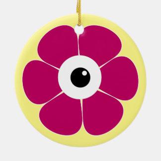 Adorno De Cerámica el ojo de la flor rosada
