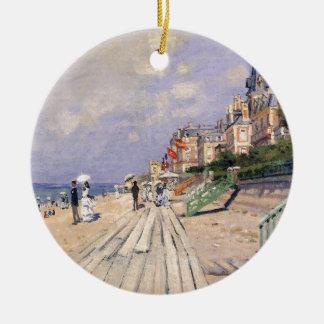 Adorno De Cerámica El paseo marítimo en Trouville Claude Monet