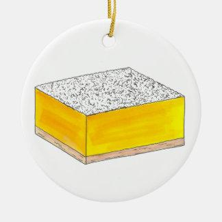 Adorno De Cerámica El postre de los pasteles de la barra cuadrada del