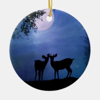 Adorno De Cerámica El primer navidad de los ciervos lindos estupendos