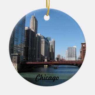 Adorno De Cerámica El río Chicago