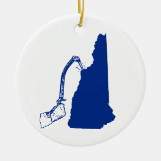 Adorno De Cerámica El subir del hielo de New Hampshire