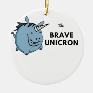 Adorno De Cerámica El unicornio valiente lo más tarde posible