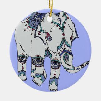 Adorno De Cerámica Elefante de Boho de la serenidad
