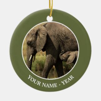 Adorno De Cerámica Elefantes africanos