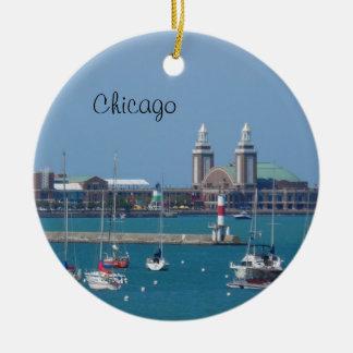 Adorno De Cerámica Embarcadero de la marina de guerra de Chicago