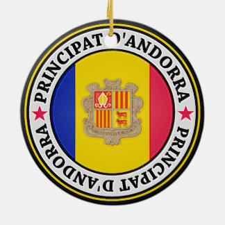 Adorno De Cerámica Emblema redondo de Andorra