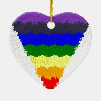 Adorno De Cerámica Embudo ondulado del triángulo del arco iris de las