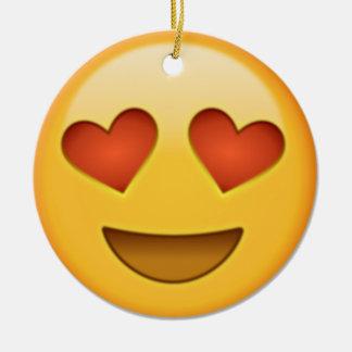 Adorno De Cerámica emoji de 2 corazones