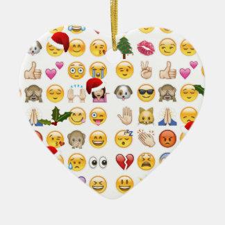 Adorno De Cerámica emojis del navidad