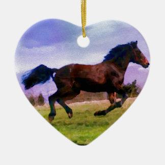 Adorno De Cerámica Equestrian occidental de funcionamiento del potro