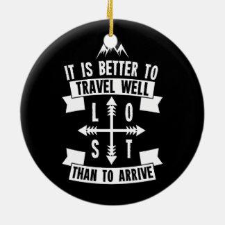 Adorno De Cerámica Es mejor viajar bien que llegar