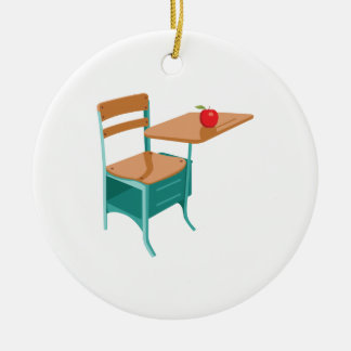 Adorno De Cerámica Escritorio y Apple de la escuela