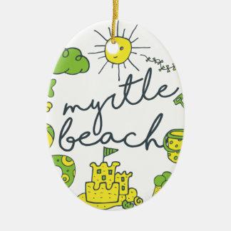 Adorno De Cerámica Escritura de Myrtle Beach