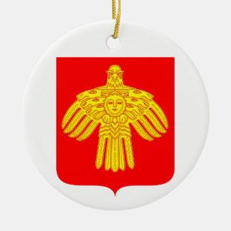Adorno De Cerámica Escudo de armas de Komi