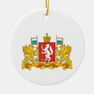 Adorno De Cerámica Escudo de armas del oblast de Sverdlovsk
