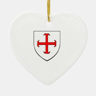 Adorno De Cerámica Escudo de la cruzada de Templar de los caballeros