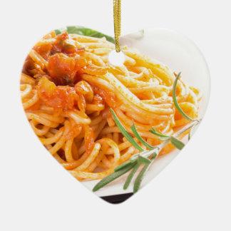 Adorno De Cerámica Espaguetis italianos con el primer vegetal de la