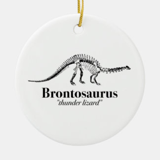 Adorno De Cerámica Esqueleto del dinosaurio del lagarto de trueno del