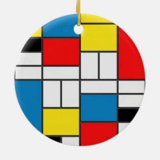 Adorno De Cerámica Estilo elegante del cubismo de Mondrian