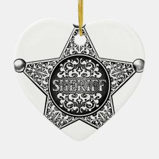 Adorno De Cerámica Estilo occidental de la insignia de la estrella