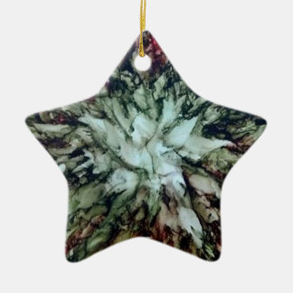 Adorno De Cerámica Estrella del árbol de navidad
