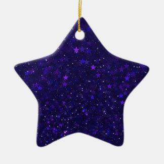 Adorno De Cerámica Estrellas púrpuras de Bokeh