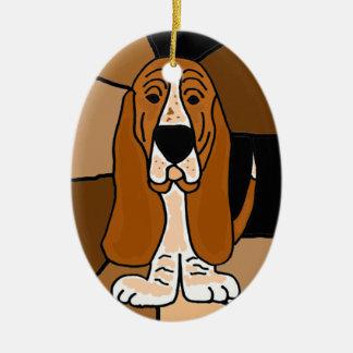 Adorno De Cerámica Extracto adorable del arte del perro de Basset