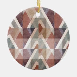 Adorno De Cerámica Extracto geométrico texturizado