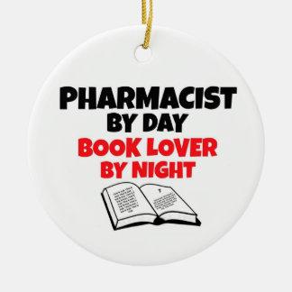 Adorno De Cerámica Farmacéutico del aficionado a los libros del día