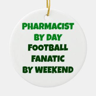 Adorno De Cerámica Farmacéutico del fanático del fútbol del día por