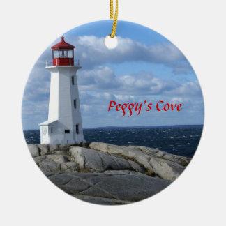 Adorno De Cerámica Faro en la ensenada de Peggy, Nueva Escocia