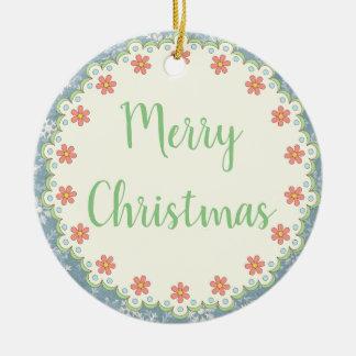 Adorno De Cerámica Felices árbol de navidad del estilo
